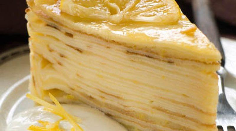 Блинный тортик с медовым кремом