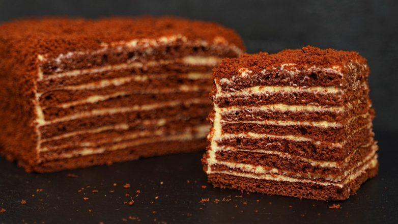 Шоколадный торт – медовик «Спартак» всего за 40 минут!