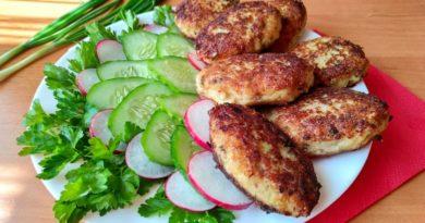 Вкусные рыбные котлетки к обеду