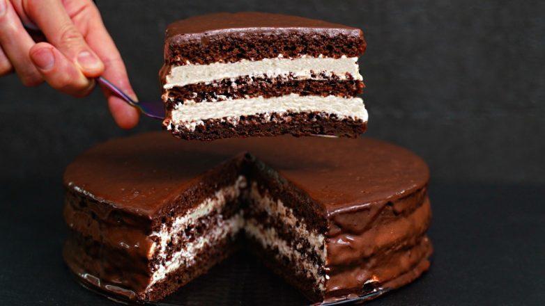 Шоколадный торт «Стаканчиковый» с творожно-сметанным кремом