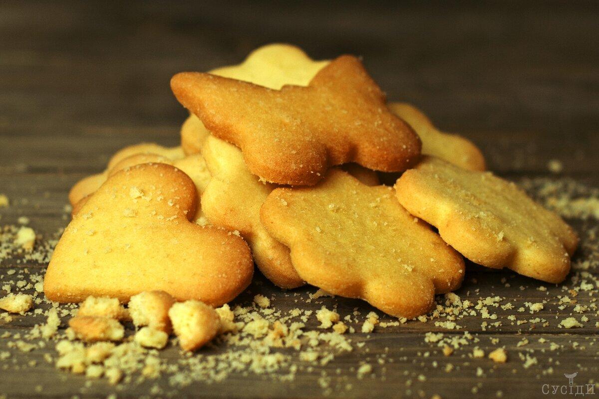 Быстрое песочное печенье рецепт с фото пошагово