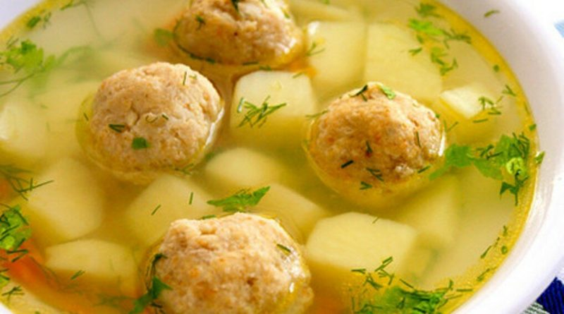 Суп с картофельными фрикадельками