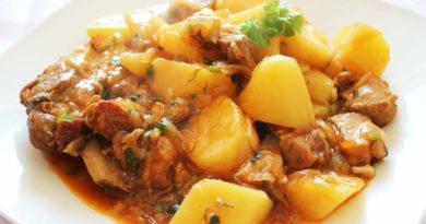 Картофель с мясом по-русски