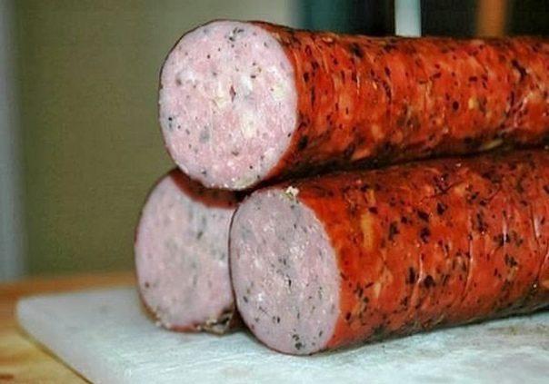Куриная колбаска домашняя