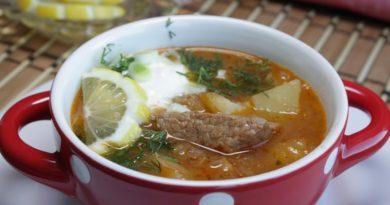 Суп-гуляш по-тирольски с говядиной