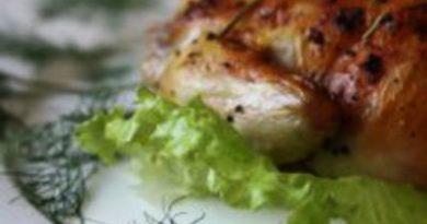 Цыпа с овощами в зеленом масле