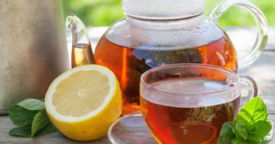 Летний чай с лимончиком...