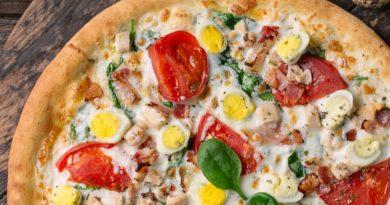"""Пицца """"Ассорти"""" с перепелиными яйцами"""
