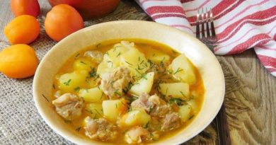 """Густой суп """"Прованс"""" с картофелем, перловкой и помидорами"""