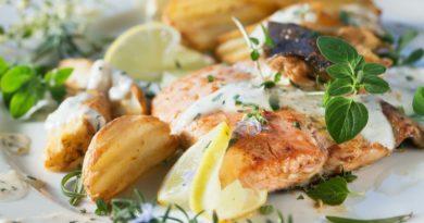 Рыба с лимоном по-гречески