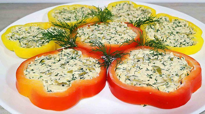 Перец болгарский, фаршированный сыром