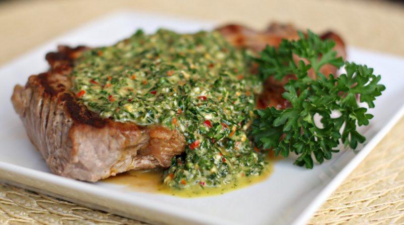 Говядина с маслом с зеленью
