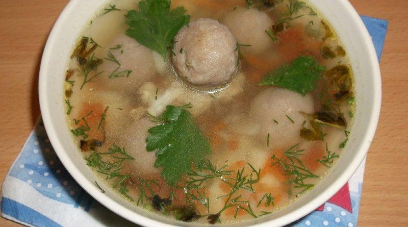 Суп с гречневыми галушками