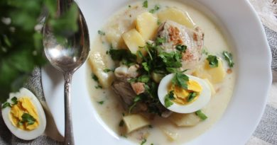 Несладкий молочный суп с яйцами и зеленью