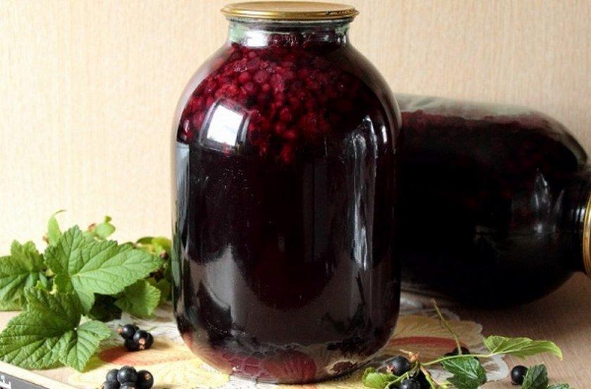 компот из смородины черной рецепт фото