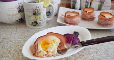 Беконовые гнезда с яйцом