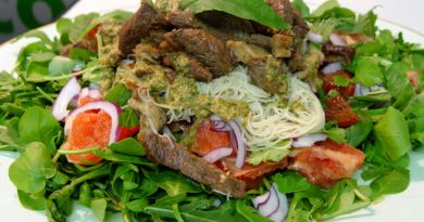 Мясо с зеленью