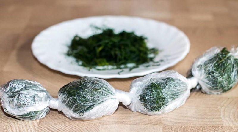 Удобный способ заморозки зелени
