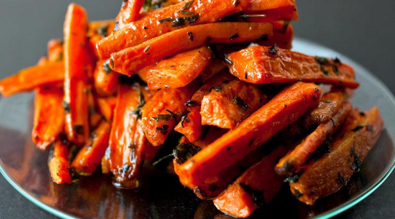 Запечённая морковь с пряностями