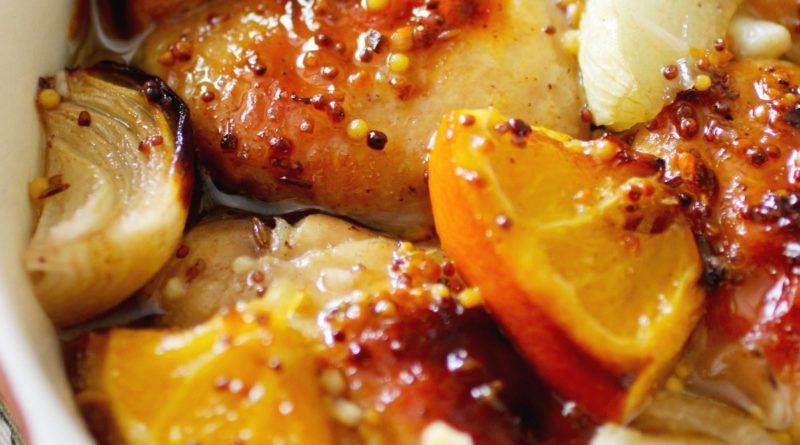 Курица в апельсине