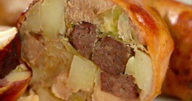 Желудок свиной фаршированный