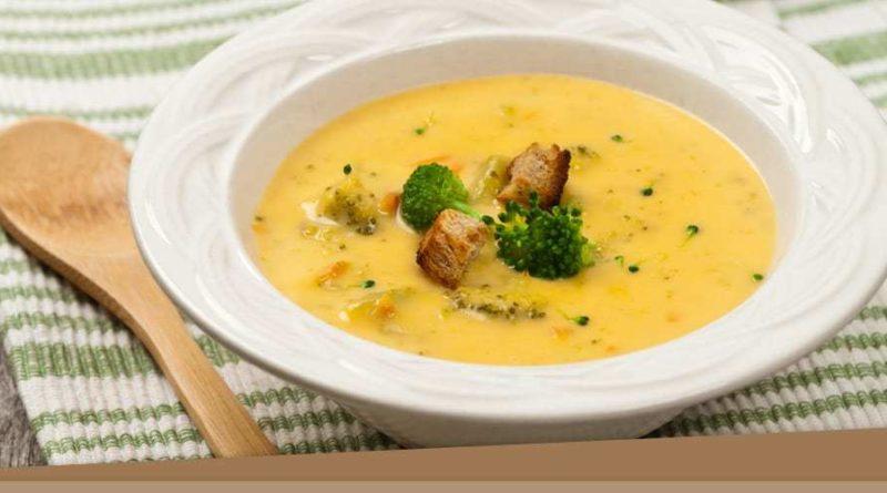 Сырный суп-пюре с картофелем