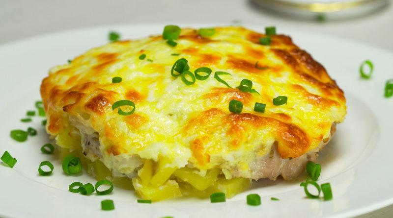 Cвинина, запечённая под сыром