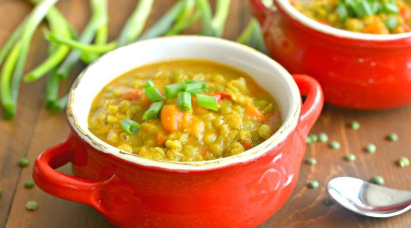 Суп гороховый вегетарианский