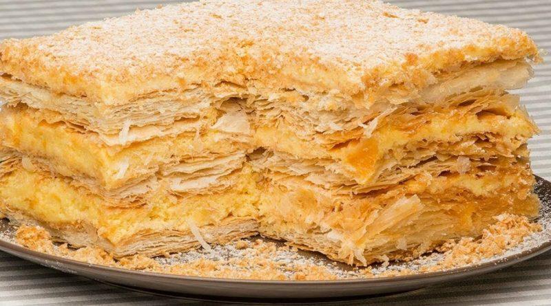 Торт Наполеон (из готового теста)
