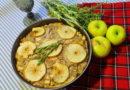"""Пирог """"Осенний"""" со свининой, яблоками и травами"""