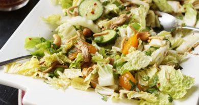 Салат из пекинской капусты и сухофруктов