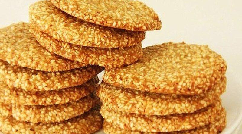 Кунжутное печенье за 10 минут