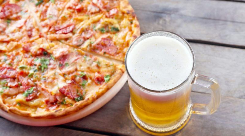 Пицца на пивном тесте