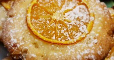 Апельсиновое печенье с миндалём
