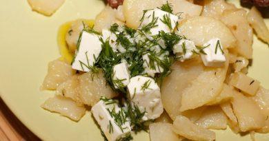 Картофель по-гречески, с фетой
