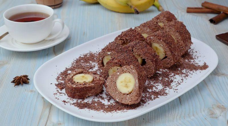 Пирожные «Карпаты» с бананом (без выпечки)