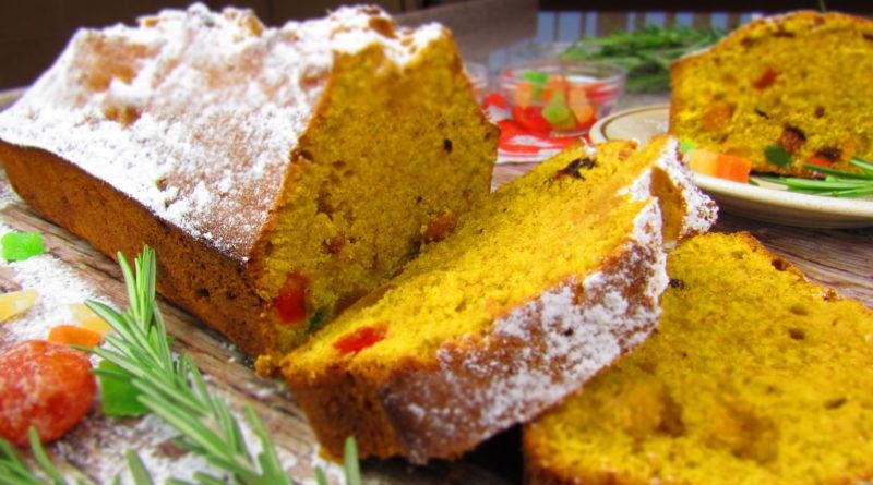 Тыквенный кекс с сухофруктами и цукатами