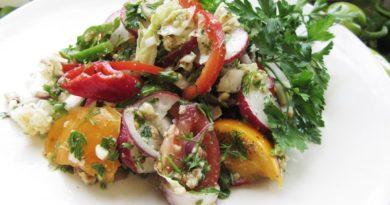 """Овощной салат """"Глехурад"""" с орехами"""