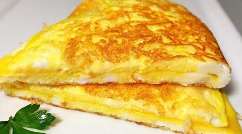 Омлет с сырной корочкой