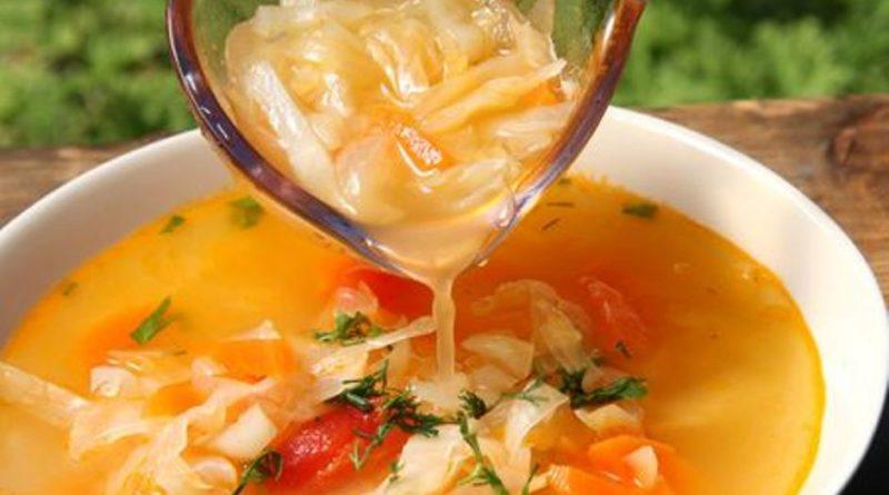 Картофельный суп с квашеной капустой