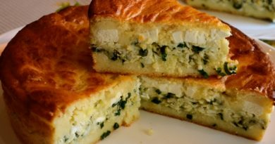 Заливной пирог (запеканка) с сыром фета
