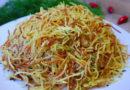 Картофельная соломка в чесночно-соевом соусе
