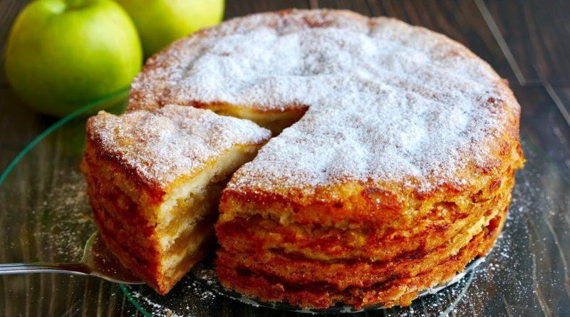 """Насыпной яблочный пирог """"Три стакана"""""""